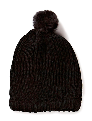 Hiss Knitted Beanie - Black