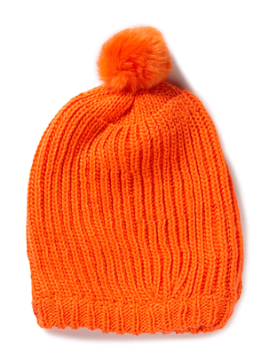 Hiss Knitted Beanie - Orange