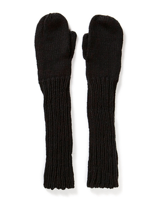 Hiss Knitted Mittens - Black