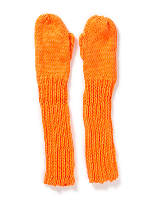 Hiss Knitted Mittens - Orange