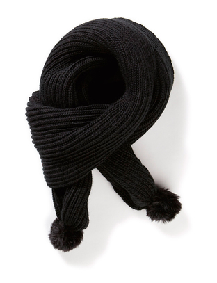 Hiss Knitted Scarf - Black