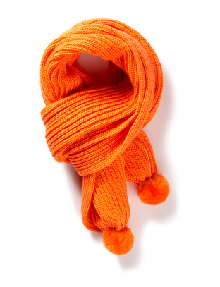 Hiss Knitted Scarf - Orange