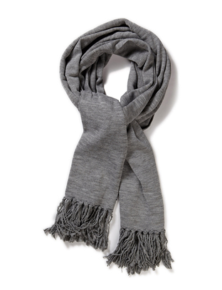 Gigi Knitted Scarf - Grey