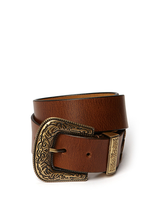 Rome Leather Belt - Camel