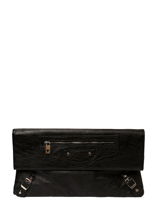 Friis & Company Largo Metallic Clutch - Black