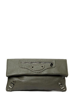Friis & Company Largo Metallic Clutch - Grey