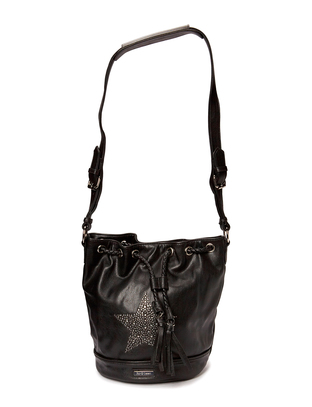 Ashy star Bucketbag - Black