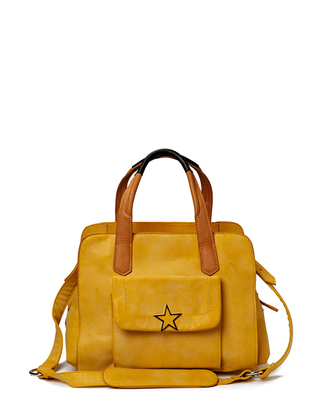 Friis & Company Clam Handbag - Yellow