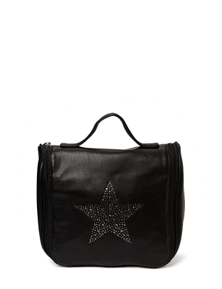 Ashy star Cosmetic Hang Bag - Black