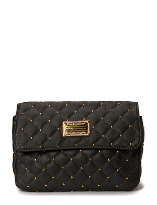 Friis & Company Hin Quilted Clutch - Dark Grey