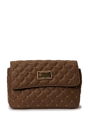 Hin Quilted Clutch - Dark Taupe