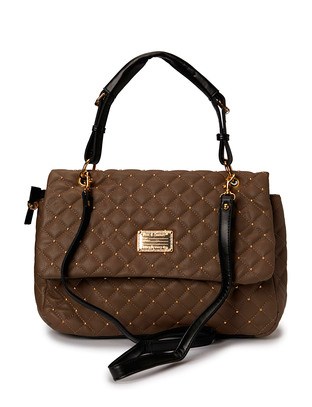 Hin Quilted Shoulderbag - Dark Taupe