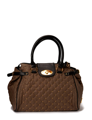 Hin Quilted Handbag - Dark Taupe