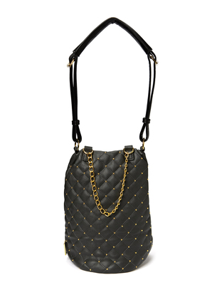 Friis & Company Hin Quilted Soft Bag - Dark Grey