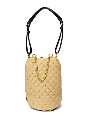 Hin Quilted Soft Bag - Nude