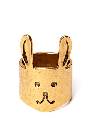 Ater Bunny Ring - Antique Gold