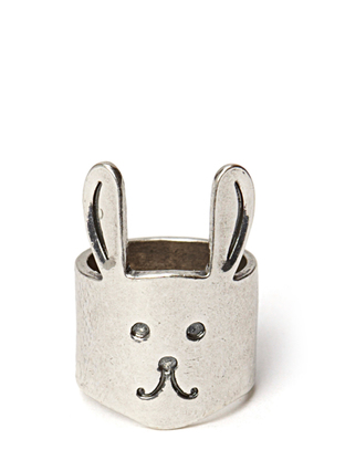 Ater Bunny Ring - Antique Silver
