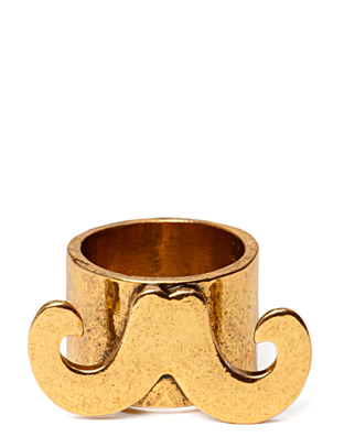 Ater Mustache Ring - Antique Gold