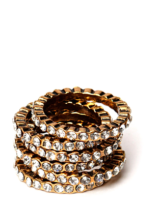 Friis & Company Cahir ring set - Antique Gold