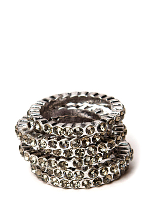 Cahir ring set - Antique Silver