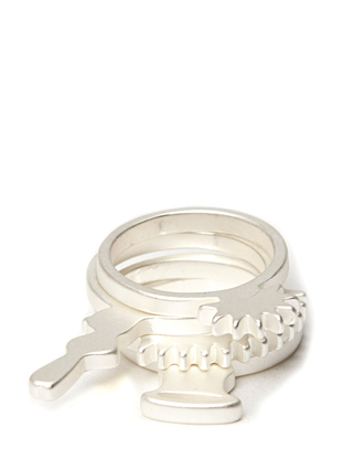 Friis & Company Athy Ring Set - Brushed Silver