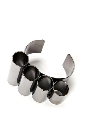 Friis & Company Arnoldi Bangle - Gunmetal