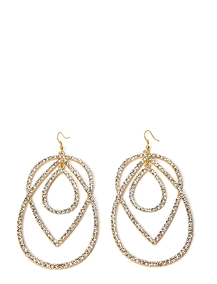 Naas Earrings - Brushed Gold