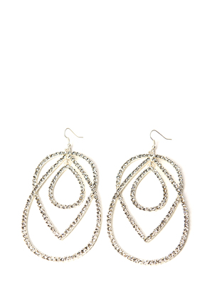 Naas Earrings - Brushed Silver