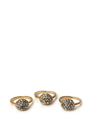 Friis & Company Cahir Ball Ring Set - Antique Gold