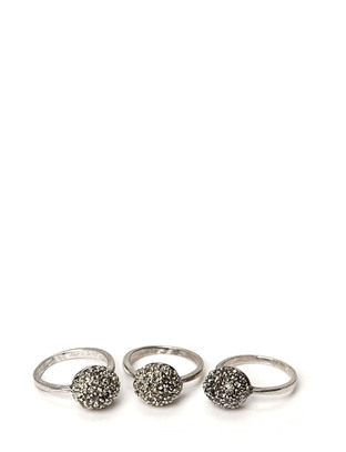 Friis & Company Cahir Ball Ring Set - Antique Silver