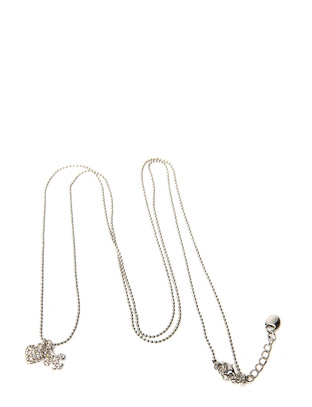 Pear Heart Necklace - Silver