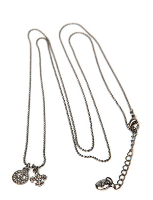 Pear Peace Necklace - Gunmetal