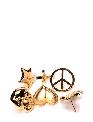 Huil candle stud set - Gold