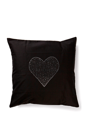 Cusago Heart Pillowcase - Black