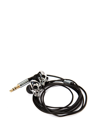 Skull earphone - Silver