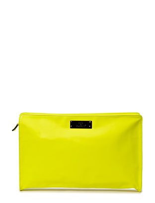 Friis & Company Bombay Big Clutch - Neon Yellow