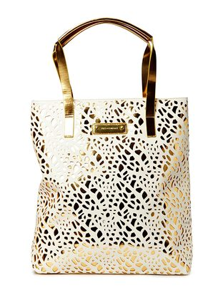 Burmeese Shopper - White