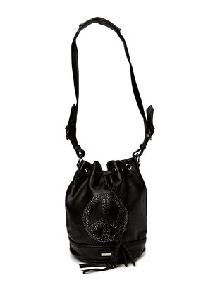 Ashy Peace Bucketbag - Black