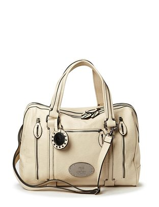 Friis & Company Slash Handbag - Light Grey