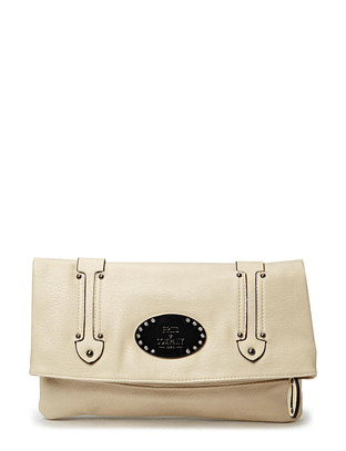 Friis & Company Slash Clutch - Light Grey