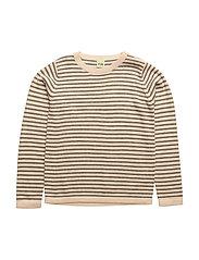 Thin Sweater - ECRU/GREY