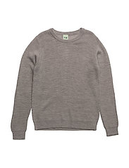 Thin Rib Sweater - LIGHT GREY