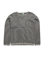 Striped Blouse - L.GREY/NAVY