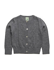 Pointelle Cardigan - GREY