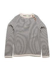 Sweater - ECRU/NAVY