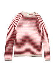 Sweater - ECRU/RED