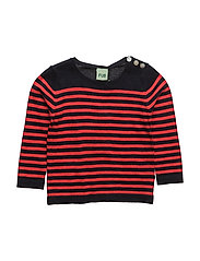 Baby Blouse - NAVY/RED