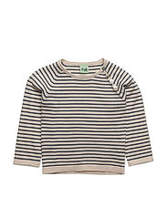 Baby Striped Blouse - ECRU/DENIM