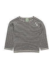 Baby Striped Blouse - L.GREY/NAVY