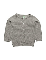 Baby Chevron Cardigan - LIGHT GREY